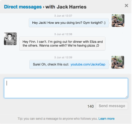 Twitter Direct Message (DM) .PSD by kndllalx