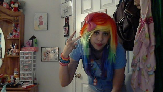 Scene Rainbow Dash Cosplay--Halloween by CostumePartyCosplay