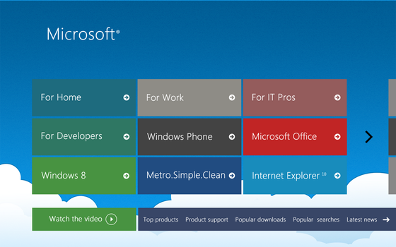Microsoft Website Concept by andreascy