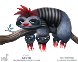Daily Paint 2029# Gloth by Cryptid-Creations