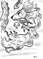 One Brush Dragon - Inktober2016 06 by OcioProduction