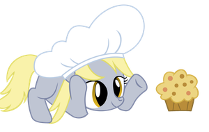 Filly Derpy Makes A Muffin by Ellittest