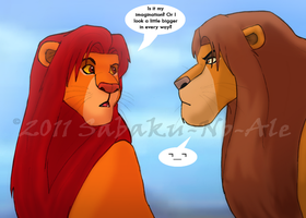 Simba meets Simba by The-PirateQueen
