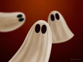Halloween Ghosts by vladstudio