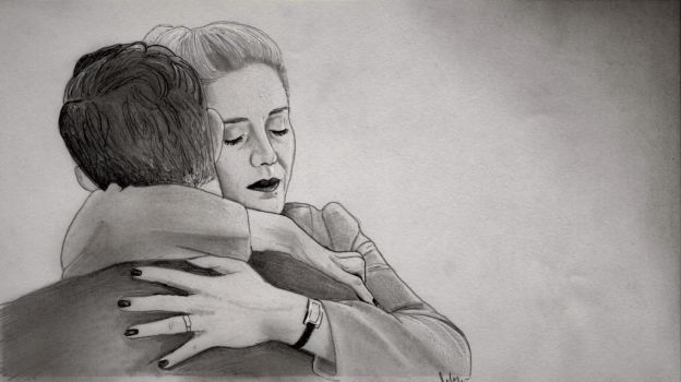 Aurora and Neil (X Company Drawing) by julesrizz