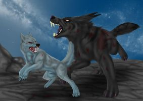 Battle on top of the world by ManiacalMonsterr
