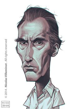 Christopher Lee as Scaramanga by ElectroNic0