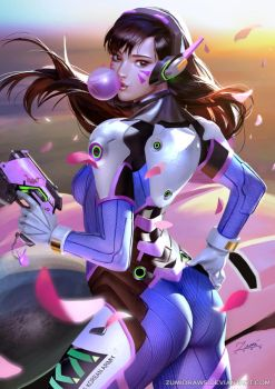 D.Va by zumidraws