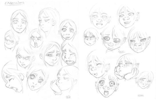 Doodles Practice 03 Expressions by DarkerEve