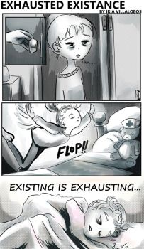 exhausted existance by iriasmind