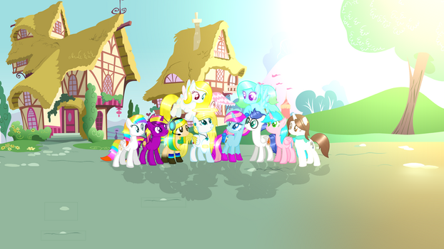 Me and all my friends  banner by AngelLightYT