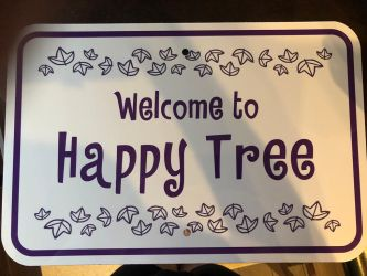 Welcome to Happy Tree sign by jordanjellybean214