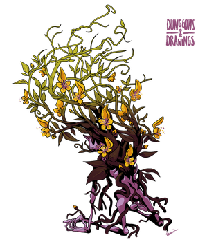 DnDrawings 319: Yellow Musk Creeper by ExitStageLeft