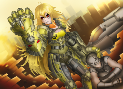 Yang Xiao Long as Vi, the Vale Enforcer by LobbyRinth