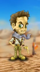 Nathan Drake (Desert Suit - Uncharted 3) by CokanoMon
