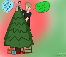Tree Topper [destiel]-- Drawcember 3/16 by oh-no-Castiel