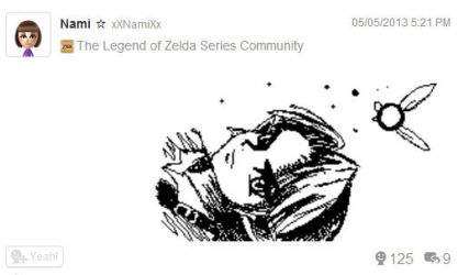 Miiverse Drawing - Young Link by Namiiru