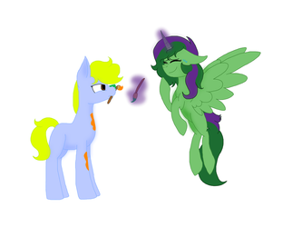Collab with Minty25 by SummerSketch-MLP
