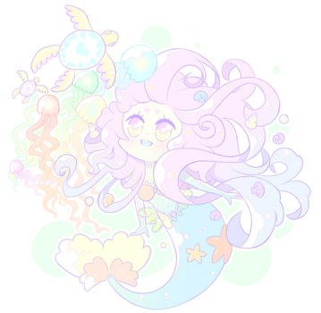 Mermaid and friends by MelynnRose