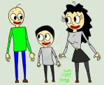 Susan,baldi and Andrew ( Art trade ) by Zeemmy99