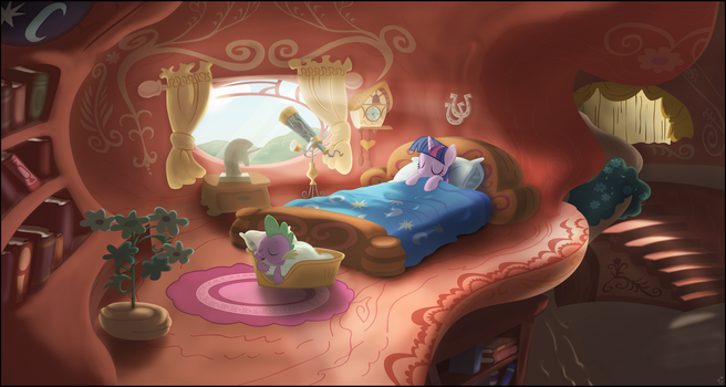 Twilight sleeping by Stinkehund