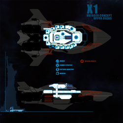 Starlight - Interior Layout Crew Deck by DharkerStudio