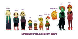 Undertale Next Gen Children! by DrawWINGs