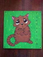 Sorrycat on wood by wildgica