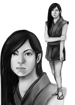 Speedpaint Character Concept- Kaede by Lilith-the-5th