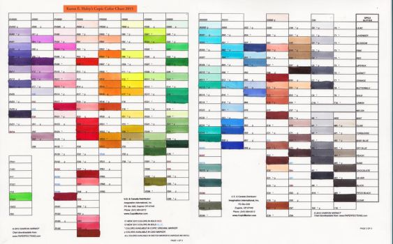 Copic Chart2015 by karookachoo