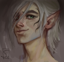 The young Zevran by sagasketchbook
