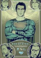 Man of Steel alternative movie poster art by harijz