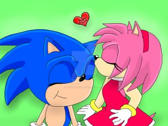 Sonic and Amy by the-shmegster