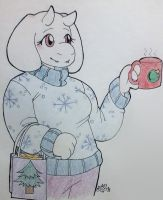 Toriel Holiday Sweater by XJunjoX