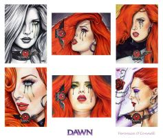 DAWN 20th Ann. Sketch Cards 2 by veripwolf
