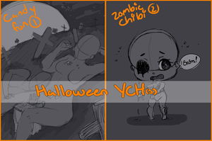 {YCH} Halloween YCH(s) (AUCTION) by LadyWhinesAlot