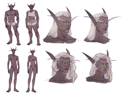 Sexual Dimorphism in WoW Blood Elves by huldahuoleton