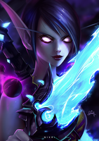 Void Elf Rogue by Nixri