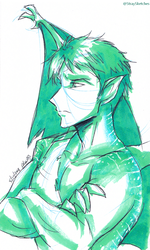TNBTF Ch.4 Announcement-Sousuke doodle by Stray-Sketches