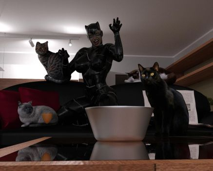 Catwoman at Home by eliasw84