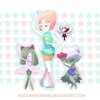 Pearl and her team by NotAwesomeAki