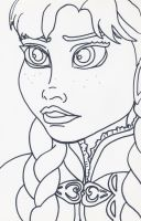 Unofficial Frozen Coloring Book Anna by MyThoughtsAreDeep