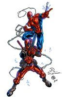 Deadpool And Spidey - colors by ZethKeeper