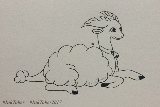 Heavenly Lamb | InkTober2017 | Day 19 by TwistDragon