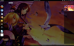 Fortune Arterial desktop on Fedora 15 by lewatoto