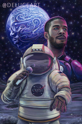 Cosmic Concerts: Kid Cudi Man on the Moon by DeLuceArt
