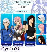 Dissidia Aces Cycle 3 Prelim app by utenafangirl
