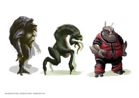 Creature concepts by Tysho