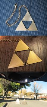 Brass Triforce Rear View Mirror Hanger by Sarinilli