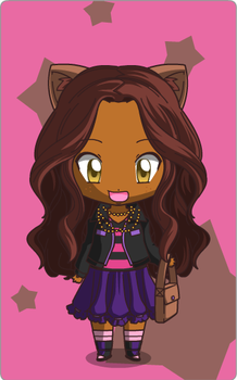 Anime Clawdeen Wolf by cupcakejean